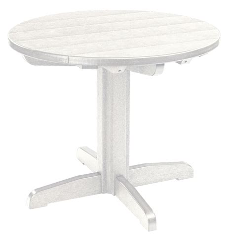 White Pedestal Dining Table by Generations White 32 Quot Pedestal Dining Table Tbt12 02