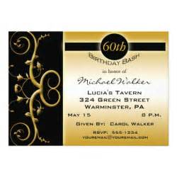 60th birthday invitations 5 quot x 7 quot invitation card zazzle