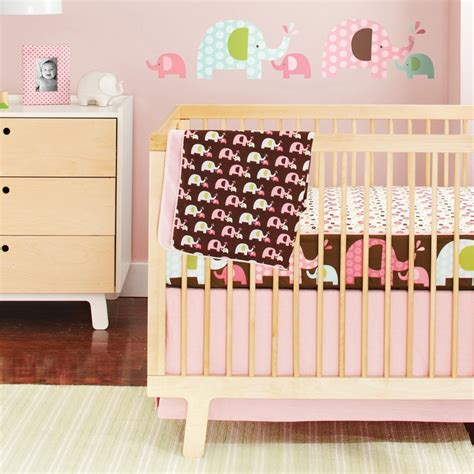 Pink Elephant Bedding For Cribs Skip Hop Complete Sheet Bumper Free Crib Bedding Set Pink Elephant From Layla Grayce