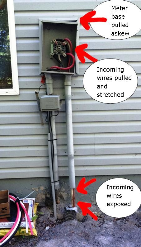 repair the electrical meter pulled from house the shock