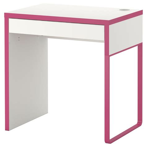 Micke Desk White Pink Ikea A New Desk For My Sewing Pink And White Desk