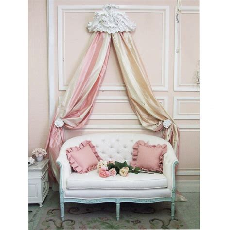 shabby chic bed crown lille ornate bed crown for the home shabby