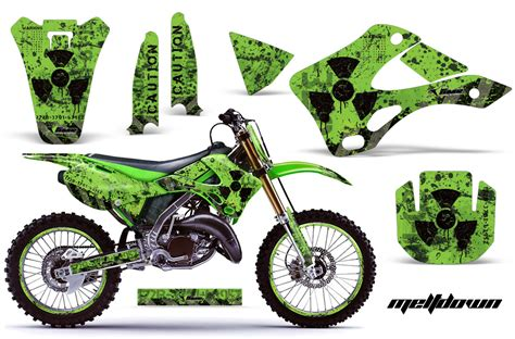Biker Sticker Smoked By 2 Stroke 1994 1998 kx125 kx250 graphics kit kawasaki motocross graphic sticker decal kit kawasaki mx