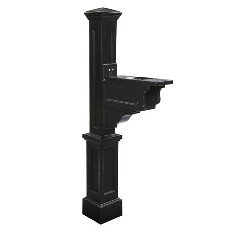 mayne dover plastic mailbox post black 581000300 the