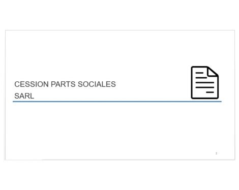 Cession De Parts Sociales Sarl Modele