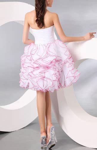 Organza Plain White Wedding Dresses by White Plain Baby Doll Organza Ruching Dresses