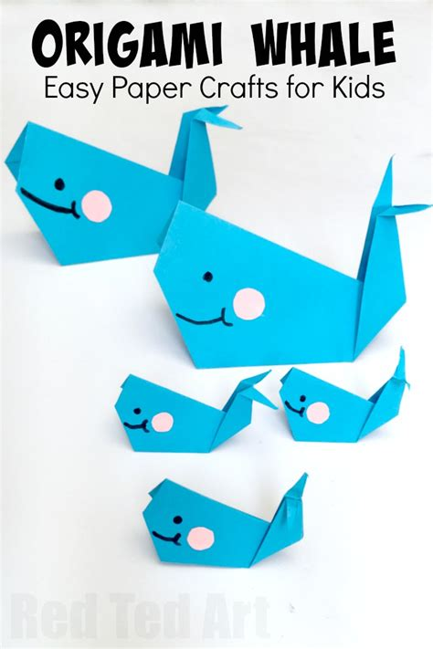 Beginner Papercraft - easy origami whale paper crafts for ted s