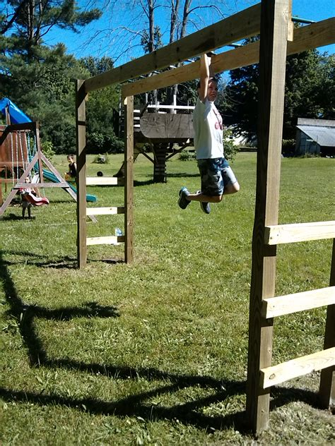 backyard monkey bars how to build monkey bars my 100 backyard design action