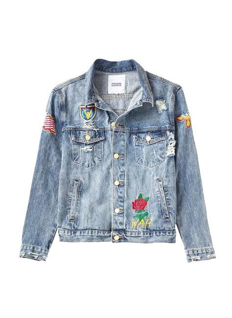 Patched Denim Jacket profound patched denim jacket moda404 s boutique