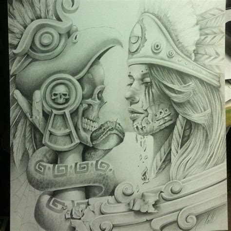 aztec art tattoo designs all aztec chicano arte aztec drawings chicanoart