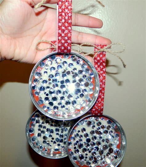 diy rhinestone mason jar lid ornaments sincerely moi