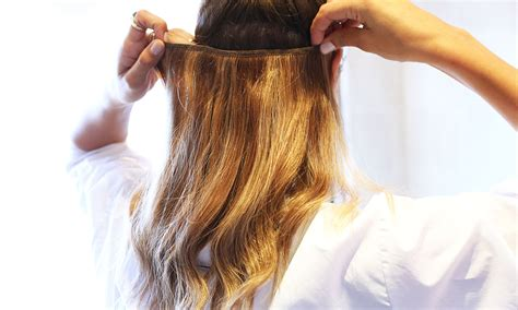hair extension application how to apply hair extensions the glamourai