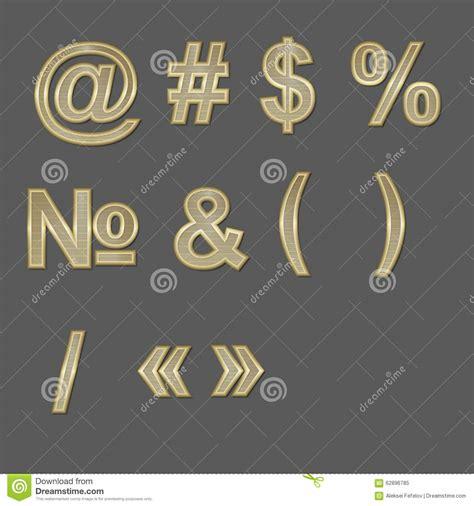 design elements fonts design elements gold 3d font symbols stock vector