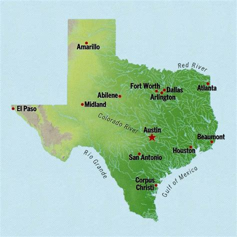 state texas map texas state maps interactive texas state road maps state maps