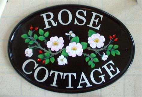 Cottage Name Signs by Pictorial House Signs From Yoursigns Ltd Cottage