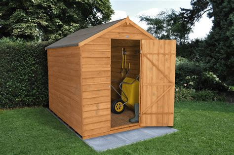 apex overlap dipped 8x6 shed no window