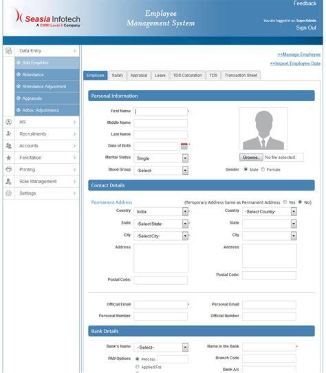 design employee management system employee management system createcompany