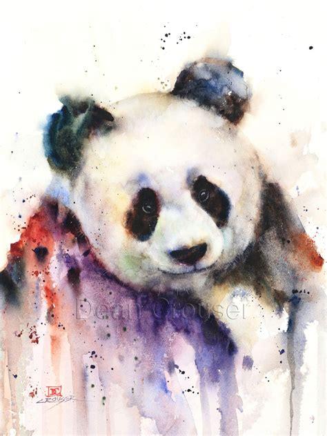 watercolor tattoos panda panda watercolor print by dean crouser by deancrouserart