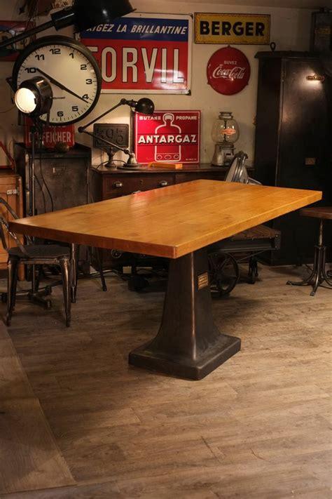 Cuisine Façon Atelier by Meuble Industriel Table Haute Ancien Pied En Fonte De