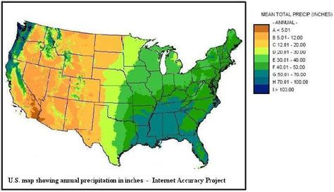 map us rainfall and last date of freezing temperatures and annual u