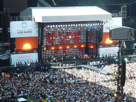 Live Earth Concerts Save Our Selves Says by Wembley Stadium Reviews Tours Map