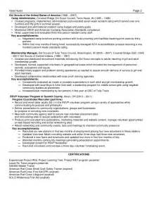 Recreation Leader Sle Resume by Recreation Manager Resume Linked In