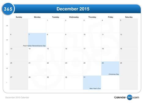 Calendar For Dec 2015 Print Dec 2015 Calendar Template 2016