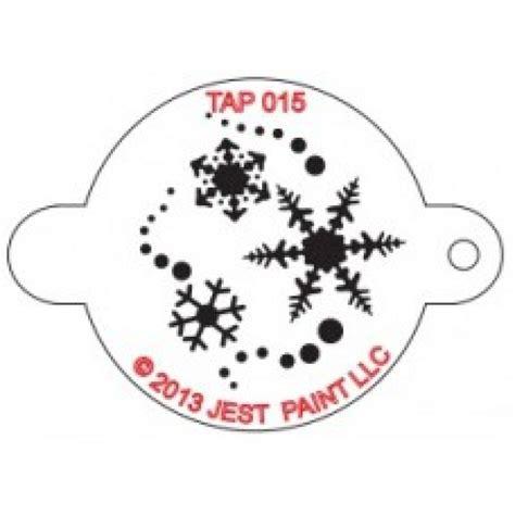 tap 015 stencil snowflakes