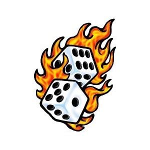 rolling dice flames clipart panda free clipart images