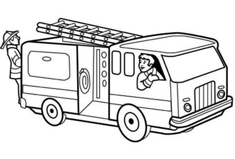 free fireman firetruck coloring pages