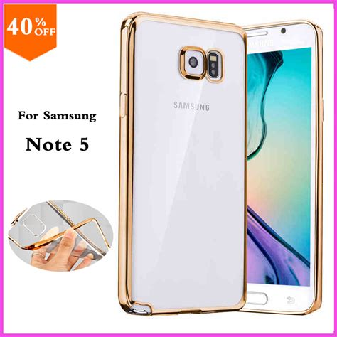 Clear Cover Samsung Galaxy Note5 original for samsung galaxy note 5 note5 phone transparent luxury brand clear cover by