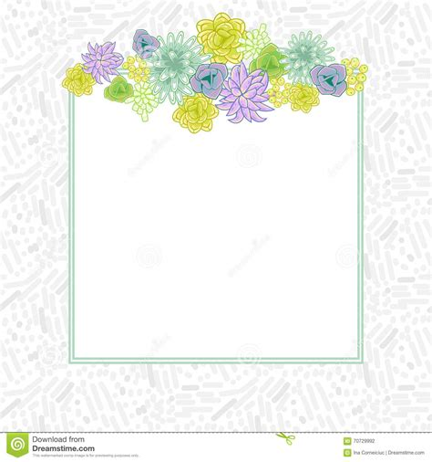 flower square card template vector stock vector image
