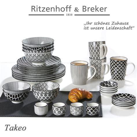 ritzenhoff breker speiseteller set takeo  teilig  cm durchmesser porzellangeschirr