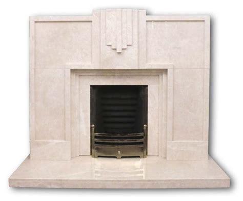 Keaton Art Deco marble fireplace   Twentieth Century