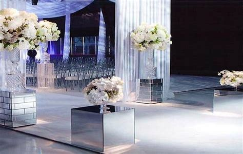 Wedding Aisle Pedestal by Mirror Pedestals Wedding Aisle Decor