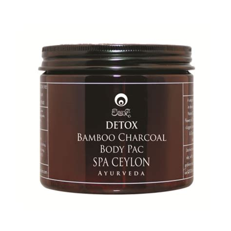Charcoal Detox Toxins by Spa Ceylon Detox Bamboo Charcoal Pack