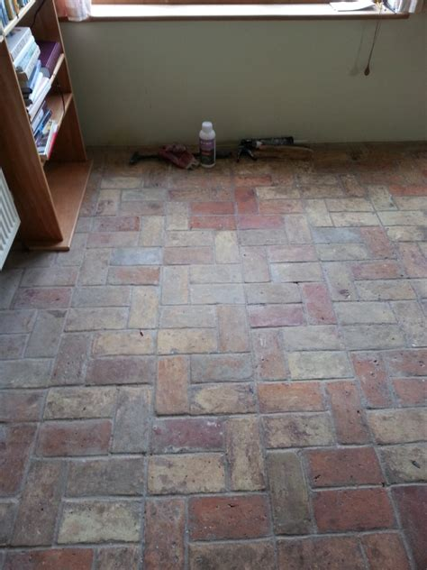 Brick Tile Floor by Tile Cleaning June 2016