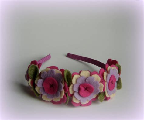 Handmade Hairbands - hairbands light pink flower handmade headband pink