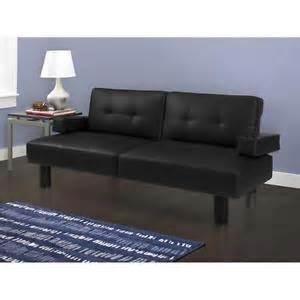 Size Leather Futon Futon Tufted Faux Leather Sofa Bed Sleeper Furniture