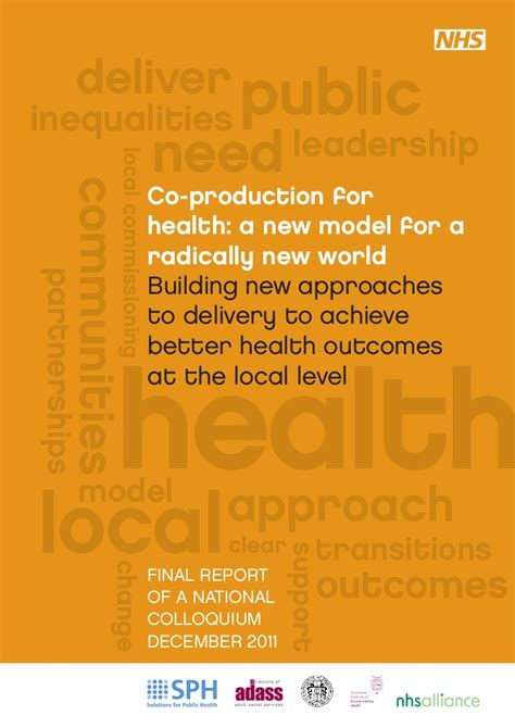 Bui Production Bui co production for health a new model for a radically new