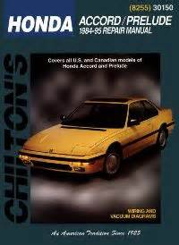 1984 1995 honda accord and prelude chilton s total car care manual