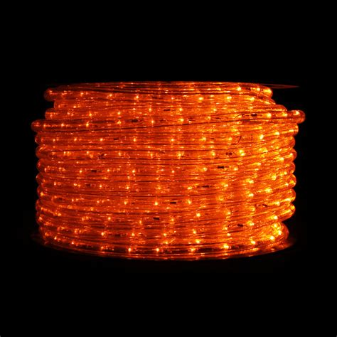 orange led rope light 148 ft reel traditional