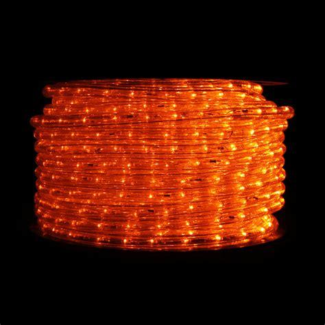 orange led rope light 148 ft reel traditional