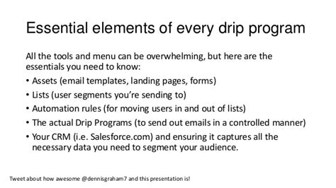 Setting Up Drip Programs Nurture Streams In Pardot Overview Of App Pardot Drip Caign Template