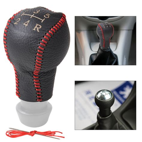 Gear Knob Covers by New Genuine Leather 5 Speed Gear Shift Knob Cover For