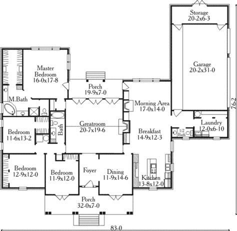 653684 3 bedroom 2 5 bath southern house plan with wrap southern style house plan 4 beds 2 5 baths 2895 sq ft