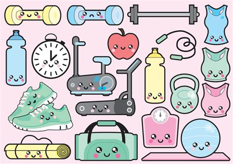 kawaii clipart premium vector clipart kawaii workout clipart kawaii