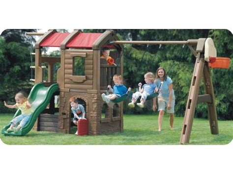 plastic slide and swing set plastic swing slide sets kids plastic playground sets