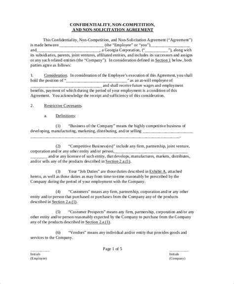 9 Sle Confidentiality Agreement Forms Sle Templates Employee Confidentiality Agreement Template