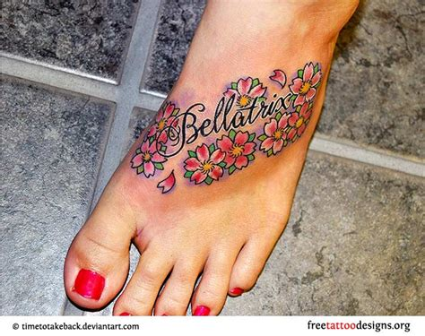 small flower foot tattoos small flower designs foot www pixshark